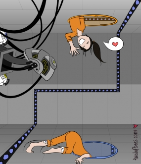 Chell & GLaDOS