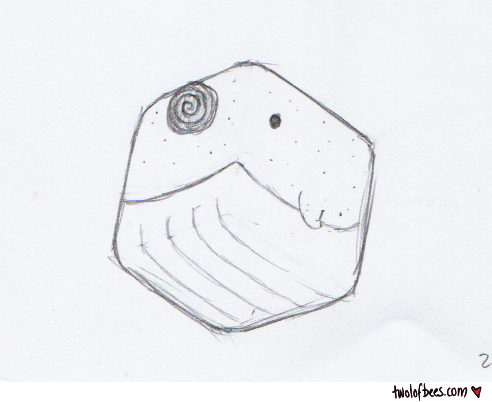 Cube Narwhal Sketch