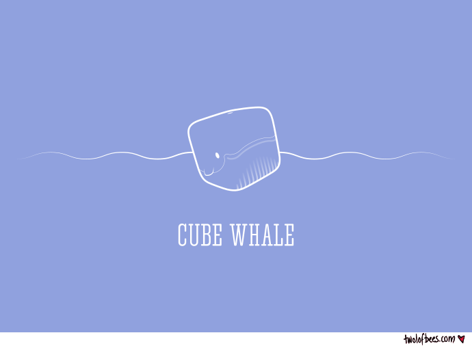 Cube Whale (outline)