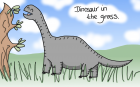 Dinosaur in the Grass 2