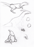 Embarrassing Dinosaur Sketches