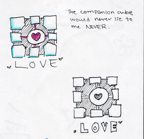 Love Companion Cubes