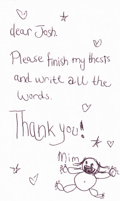 Please Finish My Thesis
