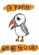 Sad Puffin (coloured)