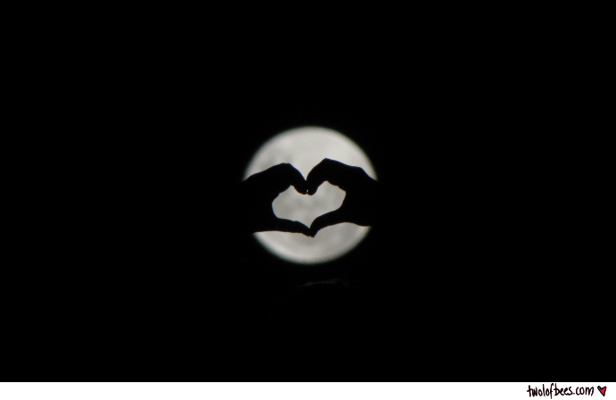 Supermoon Handheart