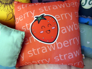 Happy Strawberry Cushion
