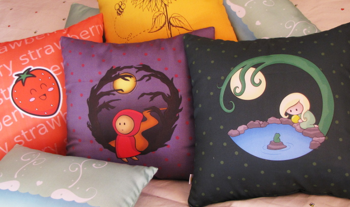Two Lof Bees Cushions
