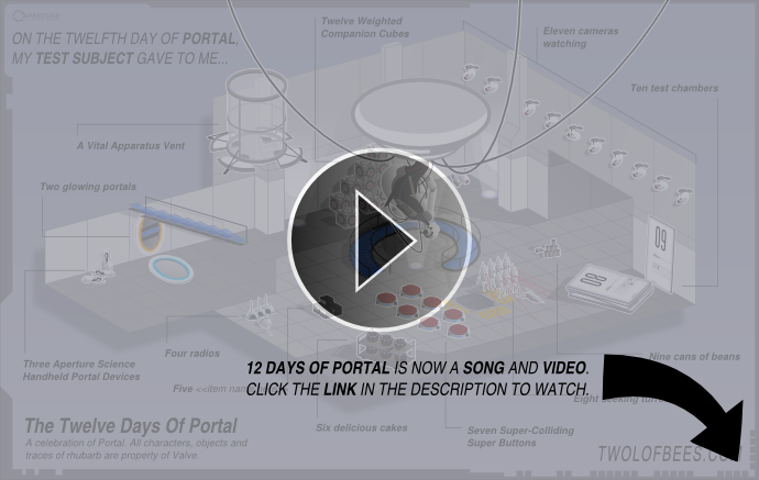 Bonus Page - 12 Days Of Portal Video